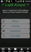 Screenshot of Lojik Kreyol