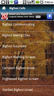 Bigfoot Call Sounds - screenshot thumbnail