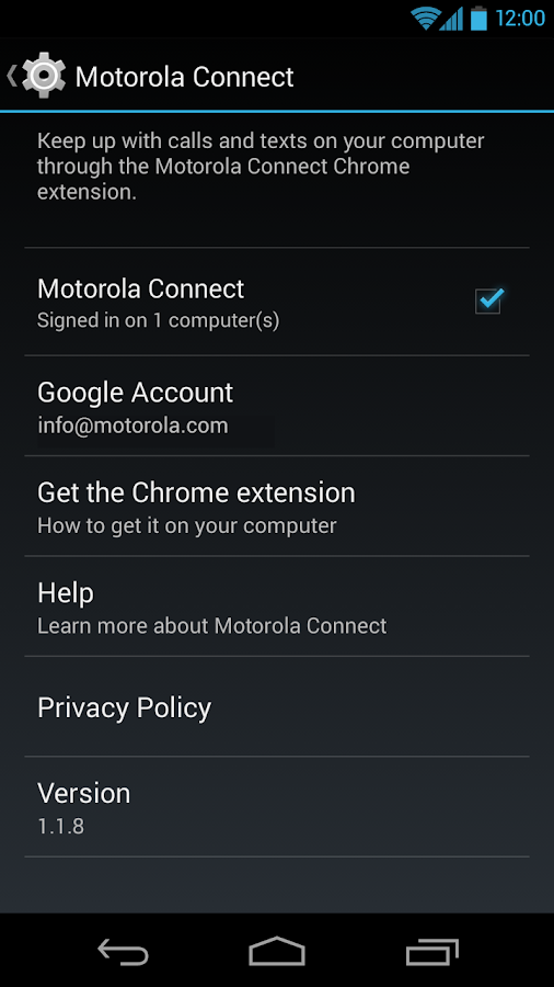 Motorola Connect - screenshot