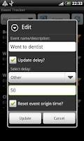 Screenshot of Event Tracker
