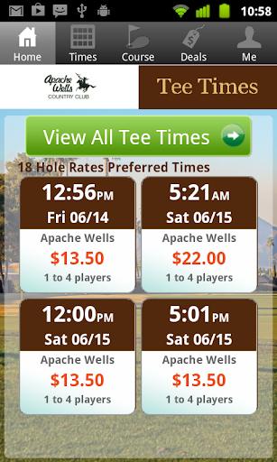 Apache Wells Golf Tee Times