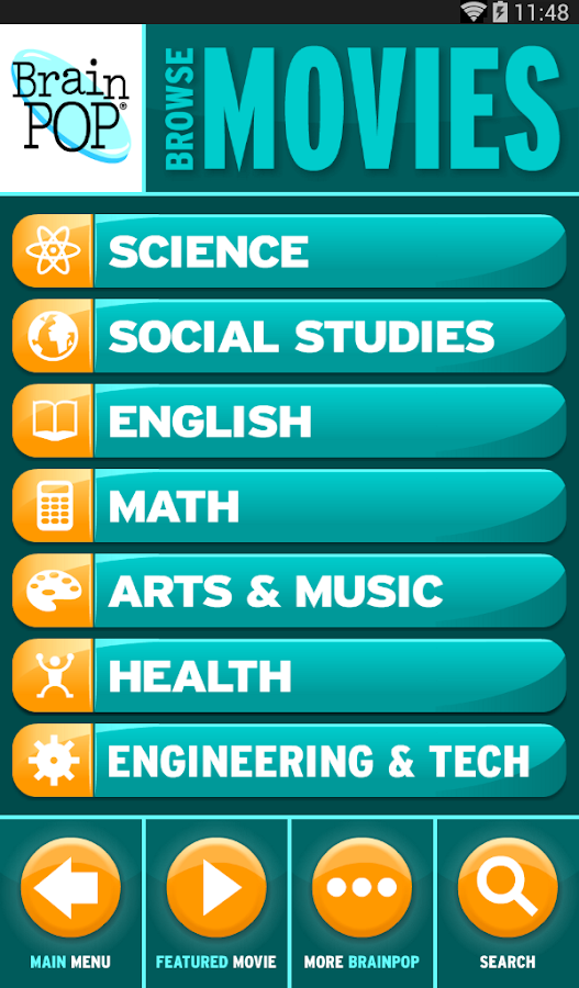 BrainPOP Featured Movie - screenshot