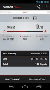 Runtastic Squats Workout PRO- screenshot thumbnail