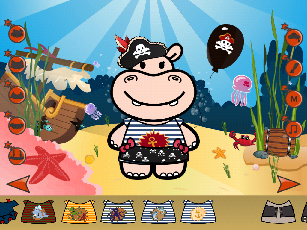 Hippo Dress Up Game- screenshot