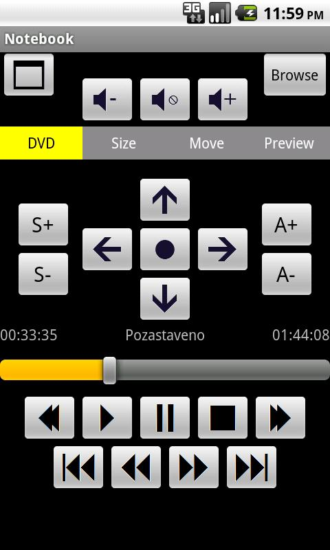 MPC-HC Remote Control - screenshot