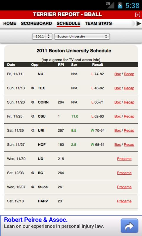 Boston University Basketball - screenshot