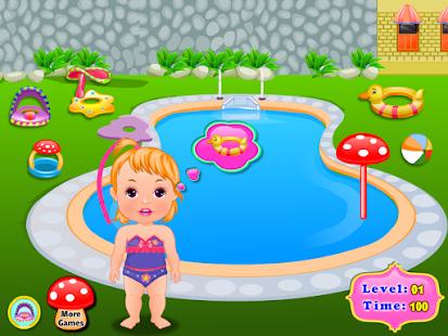 室外泳池婴儿护理