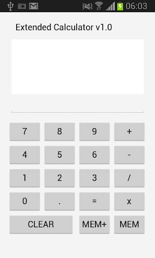 Extended Calculator