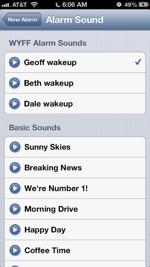 Alarm Clock WYFF 4 Greenville - screenshot