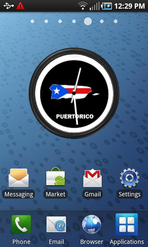 Puerto Rico Clock Widget - screenshot