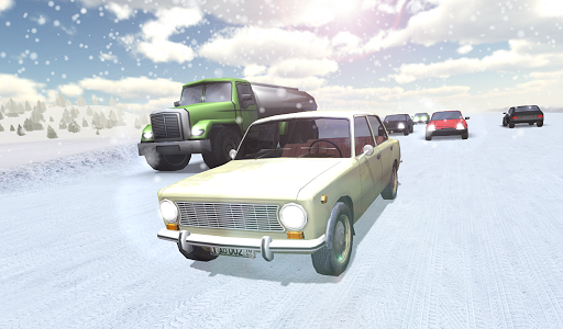 Russian Winter Traffic Racer для планшетов на Android