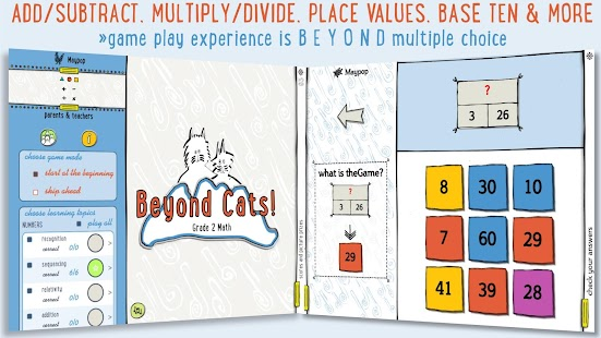 Beyond Cats! Grade 2 Math- screenshot thumbnail
