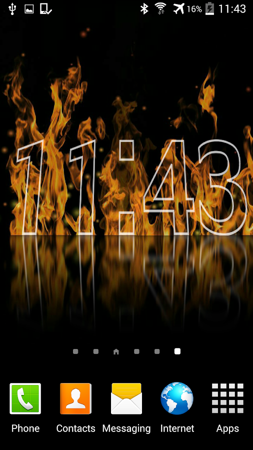 Fire Clock Live Wallpaper- screenshot