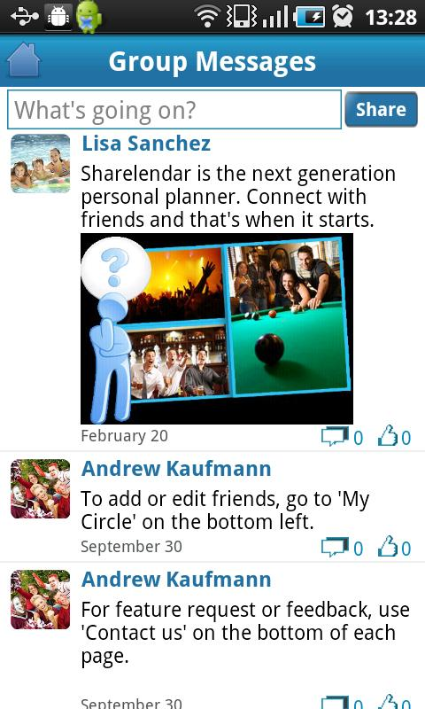 Sharelendar - screenshot