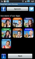 Screenshot of EasyTalk Learn Russian Free