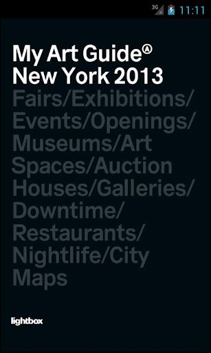 My Art Guide New York 2013 PRO