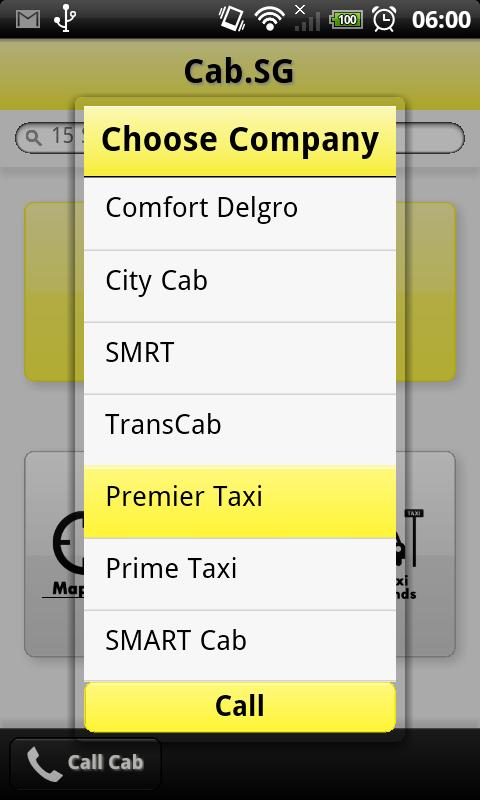 Cab.SG - screenshot