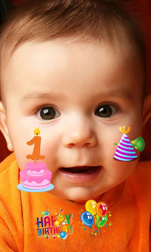 Happy Birthday Sticker Camera