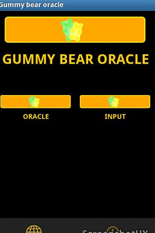 Gummy bear oracle - screenshot