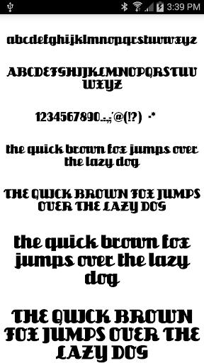 Fonts for FlipFont 50 1