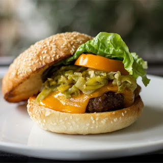 The Quintessential Green Chile Cheeseburger