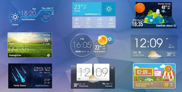 Weather Clock Cool Widget screenshot 2