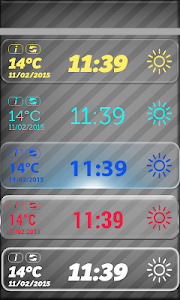 Transparent Weather And Clock screenshot 1