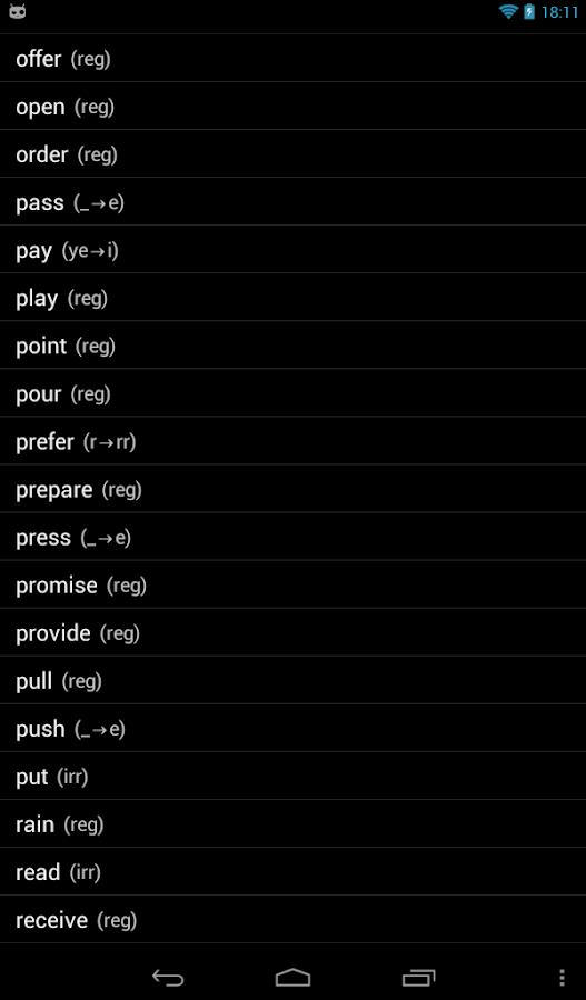 English Verbs Pro - screenshot