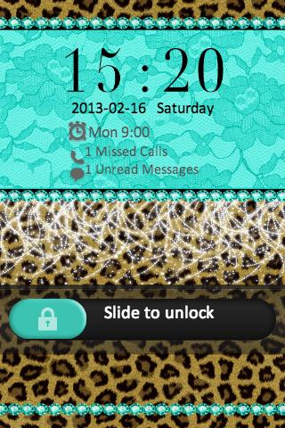 Cheetah Lace Theme Go Locker