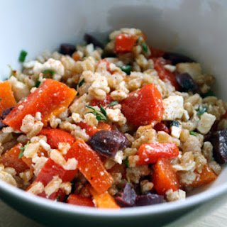 Farro and Roasted Pepper Salad