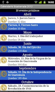 Calendario Feriados Guatemala- screenshot thumbnail