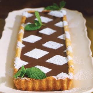Française à la Truffe Fraîche à la Menthe Tarte au Chocolat.