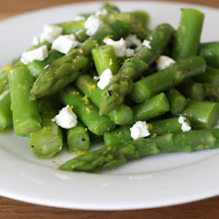 Lemony Asparagus Salad with Goat Cheese