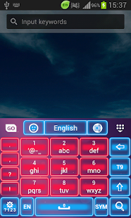 Pink Neon Keyboard GO - screenshot thumbnail
