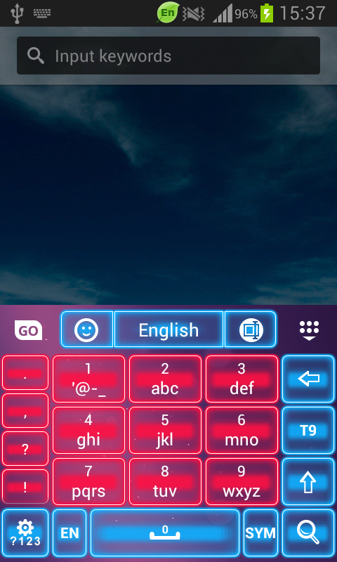 Pink Neon Keyboard GO - screenshot