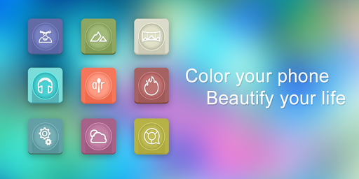 Color Galss Icon Pack