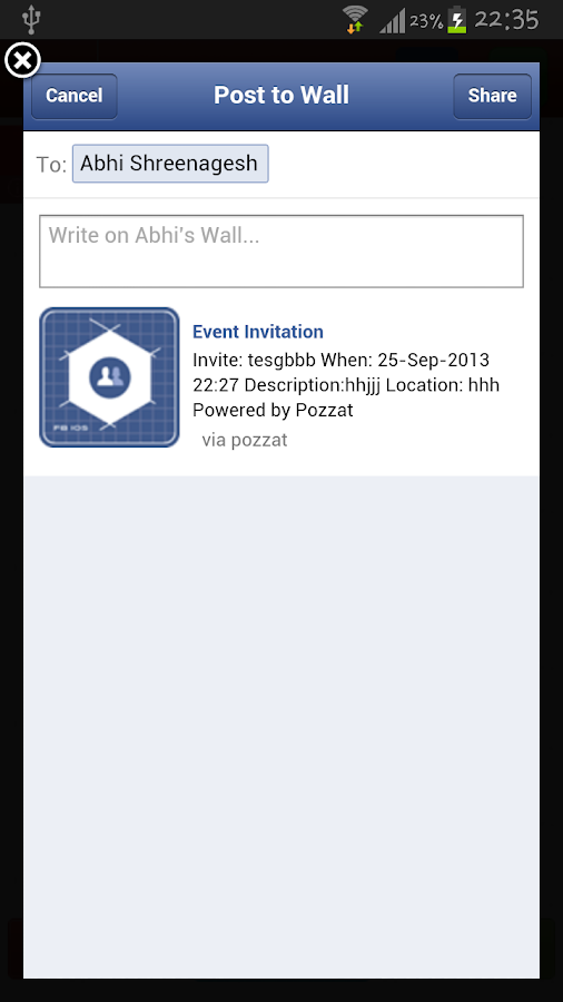 SMS  Invite - screenshot