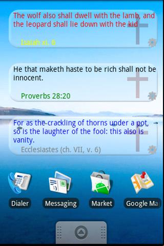 Bible Quote Widget Demo - screenshot