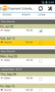 Payment Scheduler - screenshot thumbnail