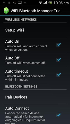 WiFi Bluetooth Manager