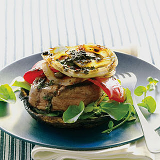 Grilled Steak and Portabella Stacks