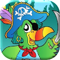 Pirate Parrot. Treasure hunt icon
