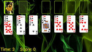 Screenshot of Spider Solitaire (Web rules)