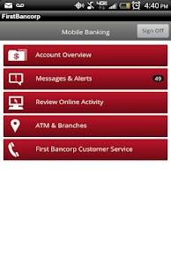 FirstBancorp mobile Banking - screenshot thumbnail