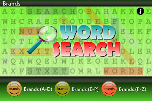 Word Search Global Brands