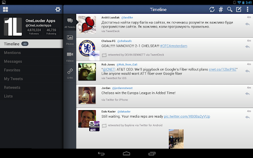 TweetCaster for Twitter - screenshot thumbnail