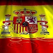 Rain Flag Spain Live Wallpaper