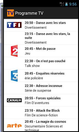 【免費生產應用App】Mon Programme TV-APP點子
