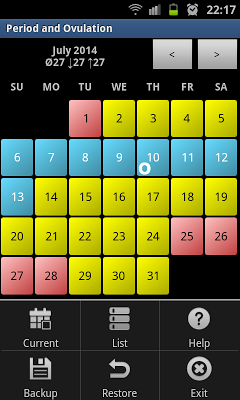 Period and Ovulation Tracker - screenshot