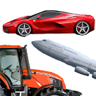 Cars and machines for kids icon
